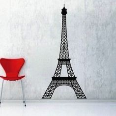 Eiffel Tower Wall Decal & Wall Appliques From Trendy Wall Designs