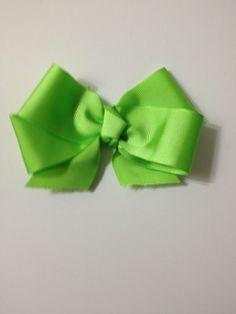 Fun Green Purple Hair Bow Clip Handmade Girl Accessory | eBay