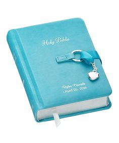 Take a look at this Blue Personalized Children's Bible today!