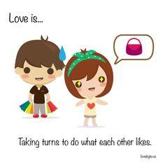 #Love is doing things that each other like.  LoveByte is an app for couples. Get LoveByte on your mobile: http://lovebyte.us   #lovebyte #couple #relationship #dating #LoveByteStories #boyfriend #girlfriend #dateideas #marriage
