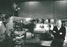 Filming Gerry Anderson's and Christopher Burr's TERRAHAWKS TV series (1983 - 1986) - Gerry Anderson on right