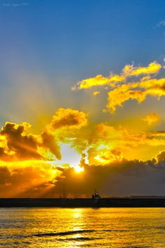 The Golden sun rays break through the clouds to shower the land with love to all whom inhabit this great earth <3