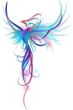 Phoenix Feather Tattoos, Phoenix Tattoo Feminine, Rising Phoenix Tattoo, Small Phoenix Tattoos, Small Tattoos, Dragon Tattoo Feminine, Back Tattoo Women, Back Tattoos, Body Art Tattoos