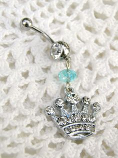 Rhinestone Crown Belly Ring Juicy Couture by ContradictionsJC, $15.00