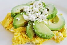 Clean Eating Breakfast Idea: scrambled eggs with avocado and feta cheese, hip hop instrumentals updated daily => http://www.beatzbylekz.ca