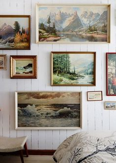 Julie Patterson Mountain Home via The Design Files via dustjacketattic Sweet Home, Landscape Walls, Landscape Paintings, Nature Paintings, Oil Paintings, Landscapes, Hanging Paintings, Nature Prints, Mountain Paintings