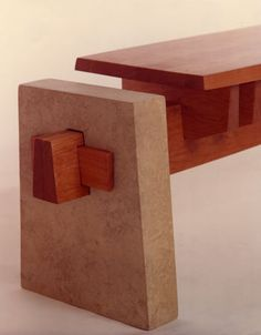 White Wind Woodworking - look at this amazing wooden bench.