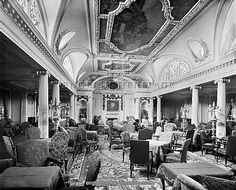 First Class Lounge, The RMS Aquitania.