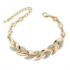 Long Way Women Gold Plated Full Austrian Crystal Rhinestone Leaf Bracelet Long Way http://www.amazon.com/dp/B00QGQTGZC/ref=cm_sw_r_pi_dp_PB4zwb0XQ42R5