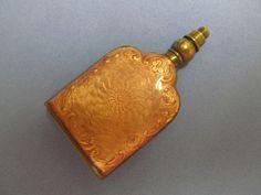 Antique Guilloche Pink Enamel Perfume Bottle Flask ~ Germany   eBay