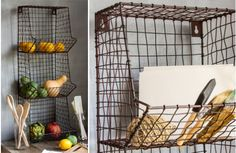 Our Wire Basket Wall Rack is a rustic inspired Wall Storage unit that is perfect for holding fruits, vegetables, or even mail! Place this in your mudroom, kitchen, or laundry room for a stunning organizational piece. For more visit, www.decorsteals.com OR www.facebook.com/decorsteals