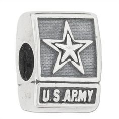 Zable Bead Sterling Silver US Army Bead