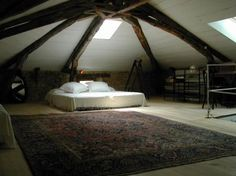 """I would use an attic as my """"Mom Cave"""""""