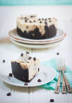 Chocolate Chip Cookie Dough Cheesecake - Gluten-Free,Vegan