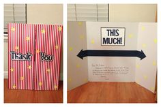 Teacher Appreciation giant thank you card with a trifold presentation board.