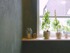 Interior Design funktioniert nur mit guter Wand- und Deckengestaltung: Volimea Kalkputz vom Fachmann in Bremen und umzu. Planter Pots, Design, Dark Walls, Bremen, Wall Design, Darkness