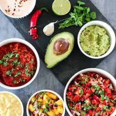 TEX-MEX-TILBEHØR Lund, Mango Salsa, Avocado Egg, Tex Mex, Enchiladas, Guacamole, Nom Nom, Tacos, Wraps