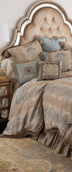 Shop bed and bath at Buyer Select. Our curated selection includes beautiful duvet covers, designer, and luxury bedding sets as well as sumptuous linens. Bedroom Bed, Dream Bedroom, Master Bedroom, Bedroom Decor, Master Suite, Bedroom Ideas, Luxury Bedding Sets, Suites, Headboards For Beds