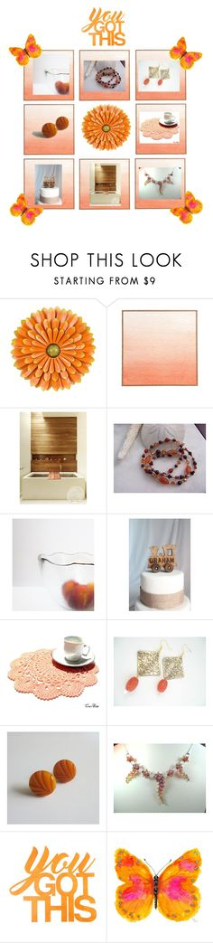 """""""Orange You Lucky?"""" by therusticpelican ❤ liked on Polyvore featuring Nome, WALL, modern, contemporary, rustic and vintage"""