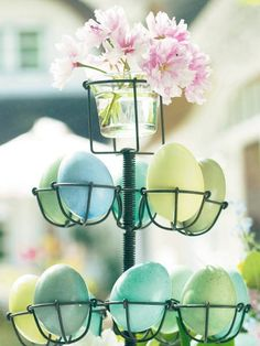 Easter egg holders, diy Easter eggs, easter egg decor ideas #Easter #Day #egg #decor #craft #ideas www.loveitsomuch.com