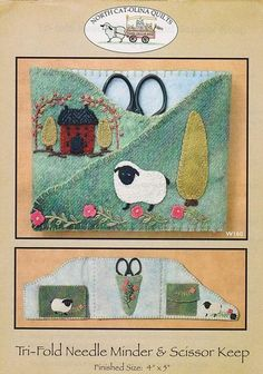 Tri-Fold Sheep Needle Minder Kit with Pattern