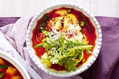 Soup takes on main meal status in this hearty tortellini and vegetable recipe.