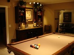 Dining Room Wine Bar Pool Table This Is The In Our Home Since We Dont Need A Formal Turned It Into Something More Suitable