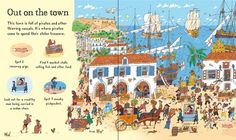 """Pages from """"My first pirate book"""" at www.usborne.com/pirates #pirates #children #books #Usborne #illustration"""