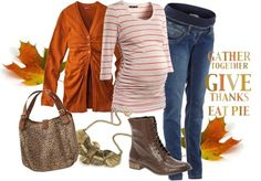 Thanksgiving Maternity Polyvore-dont like the boots, but the colors are perfect for Thanksgiving!
