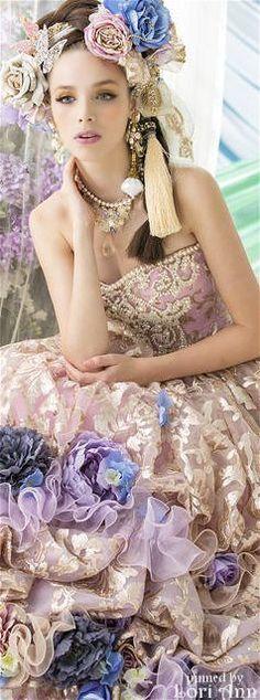 The House of Beccaria~ Flower Dresses, Pretty Dresses, Floral Fashion, Fashion Dresses, Color Fashion, Mode Costume, Fairytale Dress, Beauty And Fashion, Fantasy Dress