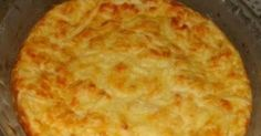 Ingredientes: .1 xícara bem cheia de pedacinhos de queijo minas .2 colheres de queijo parmesão ralado .4 ovos .2 xícaras de leite .2 colh...