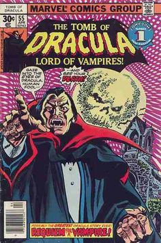 Dracula as depicted in Maevels comic series Tomb of Dracula