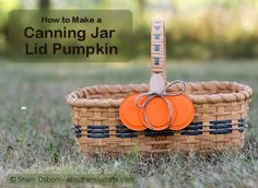 How to Make a Canning Jar Lid Pumpkin