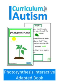 Photosynthesis Interactive Adaption Biology Book for Students with Autism and…
