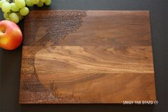 Personalized Cutting Board Love Tree w Carved by ShadyOakBoardCo, $46.00