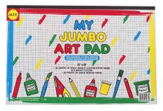 Alex Toys My Jumbo Art Pad (12X18) by ALEX TOYS. $13.94. 18 x 0.75 x 12. My Jumbo Art pad contains 32 sheets of heavyweight construction paper in 8 bright colors plus 80 sheets of white doodle paper for coloring, cutting, pasting, finger painting and doodling.