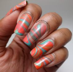 awesome water marble by Nail a college drop out