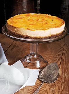 Pumpkin cheesecake recipe: Just in case anyone makes this at home. I am too lazy for this. :(