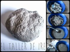 Here's how to make excellent paper mache by recycling egg cartons Paper Mache Clay, Paper Mache Sculpture, Diy Paper, Paper Art, Paper Crafts, Paper Jewelry, Paper Beads, Paperclay, Diy Clay