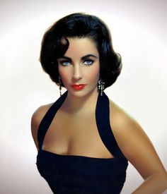 Elizabeth Taylor...proof that a brunette can be just as sexy and gorgeous as any blonde...love the halter top