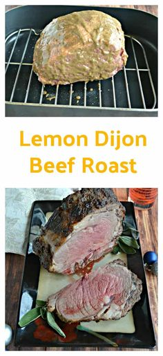 Lemon Dijon Beef Roast Sage Butter, Herb Butter, Potato Sides, Potato Side Dishes, Standing Rib Roast, Lemon Herb, Angus Beef, Food Out, Dinner Is Served