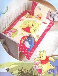 Winnie Pooh Kinder Bettwäsche Grösse 135/200 Motiv: Rot umrandet Linon Baumwolle von FRIP -Versand®, http://www.amazon.de/dp/B00721DNMM/ref=cm_sw_r_pi_dp_Ywz1sb0KA7B1A