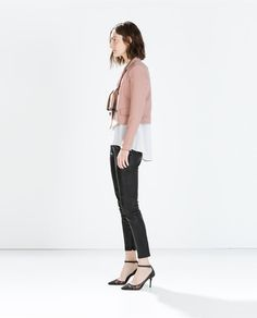 ZARA - WOMAN - SHORT DOUBLE BREASTED BLAZER  Feeling the look minus the shoes....