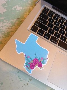 Texas Floral Decal