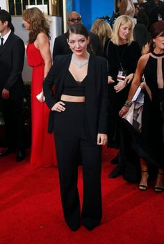 FAB- Lorde at the Golden Globes.