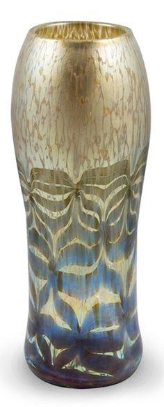 Loetz, golden Maximia Vase, ca 1906