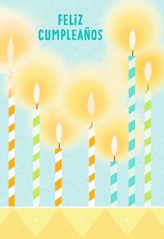 Birthday Candles Religious Spanish Language Card