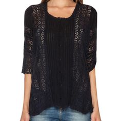 Johnny Was Daisy Baby Scallop Blouse at Maverick Western Wear