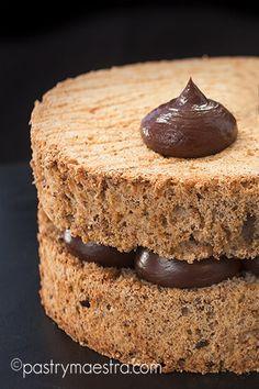 Dacquoise Recipe, Chocolate Desserts, Melting Chocolate, Sweets Recipes, Cake Recipes, British Baking, Caramel Recipes, Fancy Desserts, Sweets
