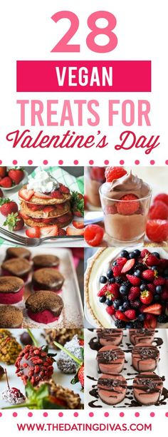 Vegan Recipes and Healthy Treats for Valentine's Day A romantic list of over 100 healthy treats for Valentine's Day that will satisfy any sweet tooth! Gluten-free, Vegan, Sugar-Free and Non-dessert options! Healthy Vegan Desserts, Vegan Treats, Healthy Treats, Vegan Recipes, Healthy Cooking, Vegan Food, Healthy Food, Yummy Food, Valentine Desserts